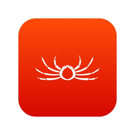 Japanese spider crab icon digital red for any design isolated on white vector illustration