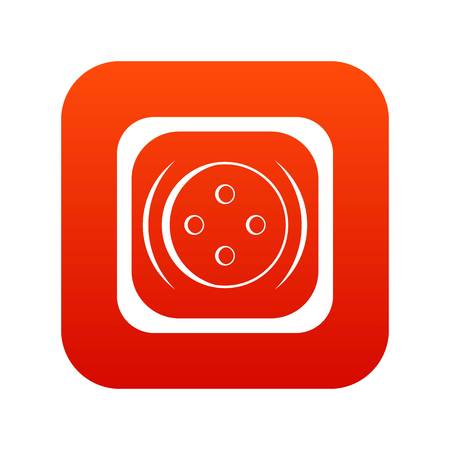 Clothing square button icon digital red for any design isolated on white vector illustration