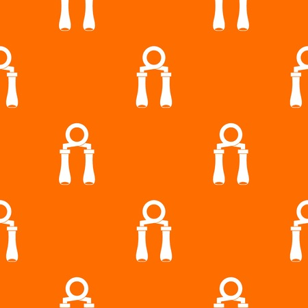 gripper: Hand grip trainer pattern repeat seamless in orange color for any design. Vector geometric illustration