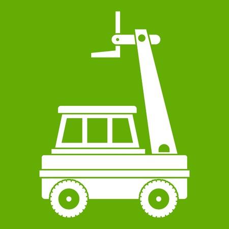 cherry picker vector line icon, sign, illustration on background, editable  strokes Stock Vector Image & Art - Alamy