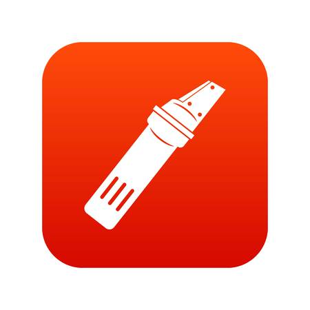 glasscutter: Glass cutter icon digital red for any design isolated on white vector illustration Illustration