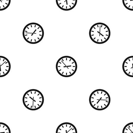 numeric: Watch pattern repeat seamless in black color for any design. Vector geometric illustration Illustration