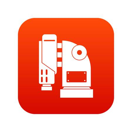 jack tar: Pneumatic hammer machine icon digital red for any design isolated on white vector illustration
