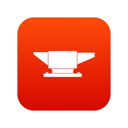 Anvil icon digital red for any design isolated on white vector illustration