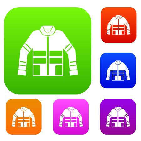 disaster preparedness: Firefighter jacket set collection