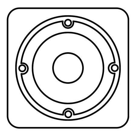 grille: Speaker icon , outline style