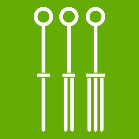 Tattoo needles icon green