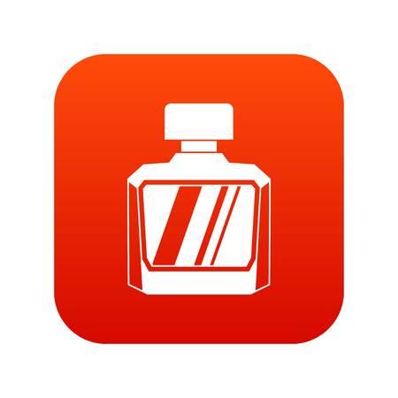Jar of perfume icon digital red