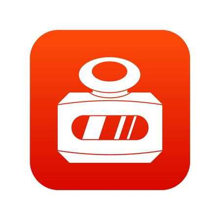 Bottle of female perfume icon digital red