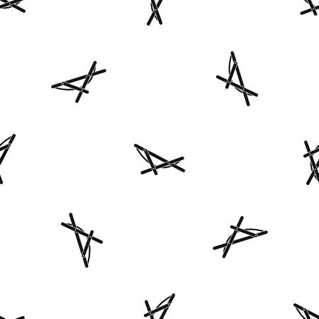 beatitude: Beach chaise pattern seamless black