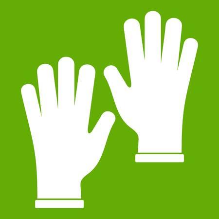 Medical gloves icon green Illustration