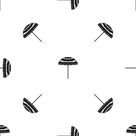 Beach umbrella pattern seamless black