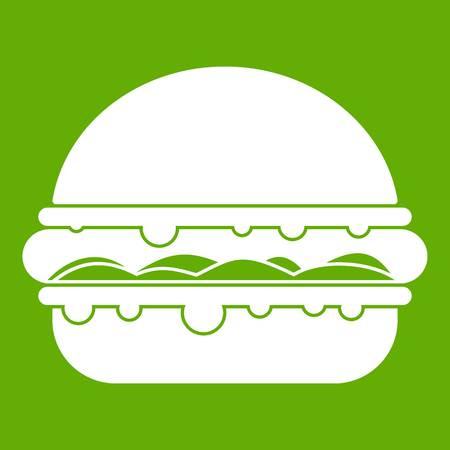cheddar: Burger icon green