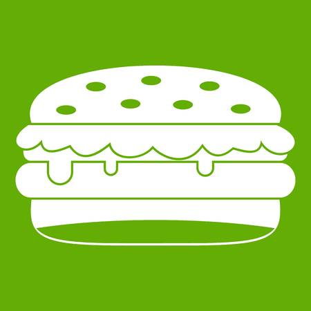 Burger icon green