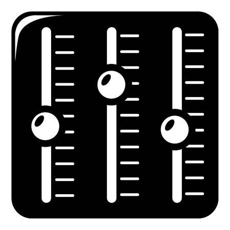 Sound mixer icon , simple style