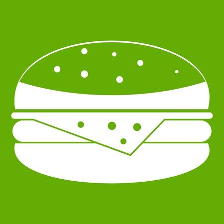 Burger icon green