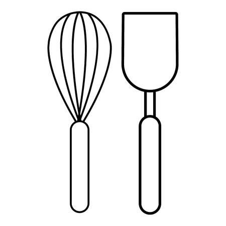 Cutlery bake icon , outline style