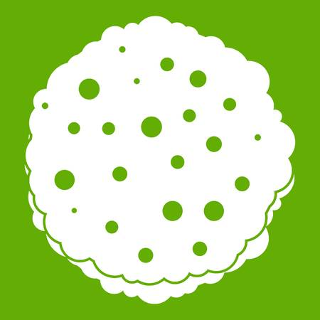 Cutlets icon green Illustration
