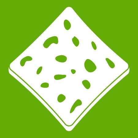 soy bean: Tofu fresh block icon green Illustration