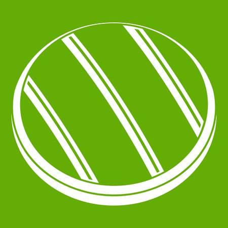 Gegrilde ronde biefstuk pictogram groen