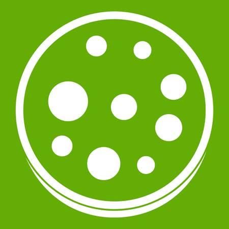 Slice of salami icon green