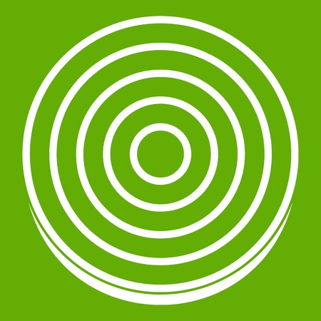 Slice of sweet onion icon green Illusztráció
