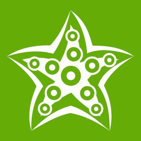 Starfish icon green Illustration