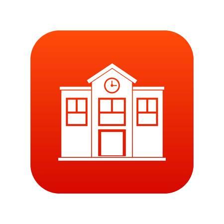School icon digital red
