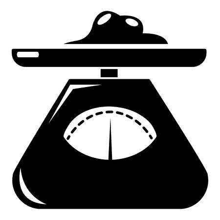 Küchenwaage-Symbol, einfachen Stil Vektorgrafik