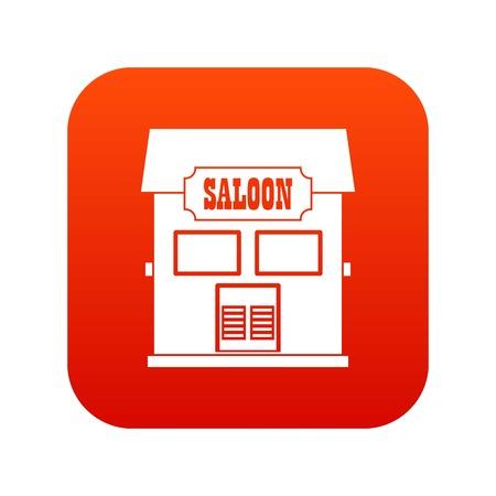 Western saloon icon digital red