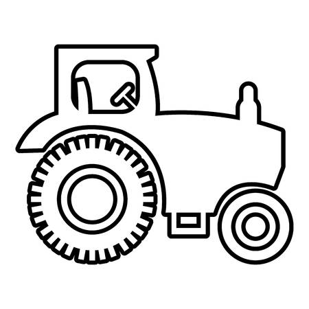 traction: Tractor icon , outline style
