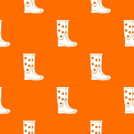 rainy season: Rubber boots pattern seamless Illustration