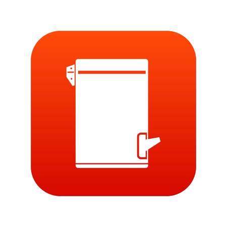 Trash can icon digital red