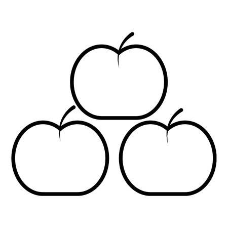 Apples icon , outline style
