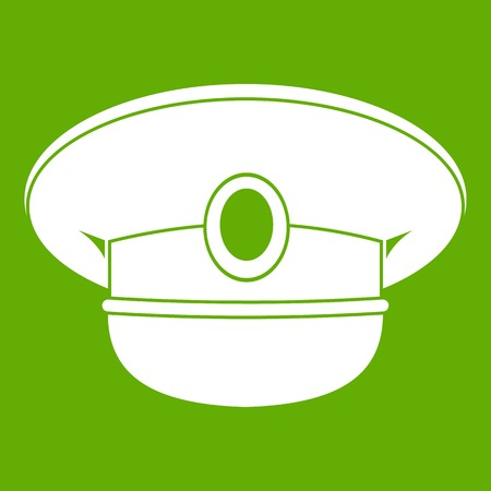 White nautical hat icon Illustration