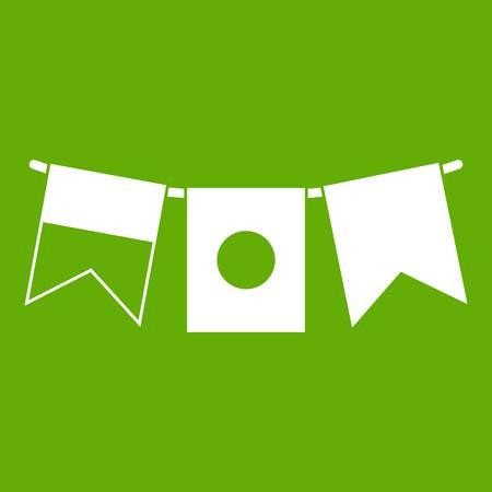 Flags icon green Illustration
