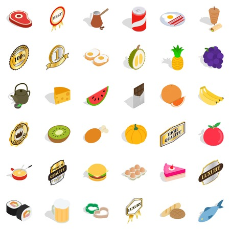 vitamine: Vitamine icons set, isometric style