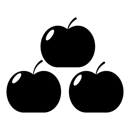 Apples icon simple style