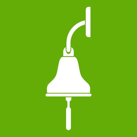 Ship bell icon in green