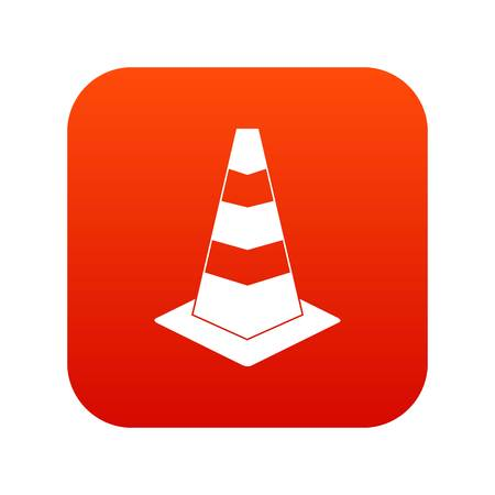 Traffic cone icon digital red for any design isolated on white vector illustration Illustration