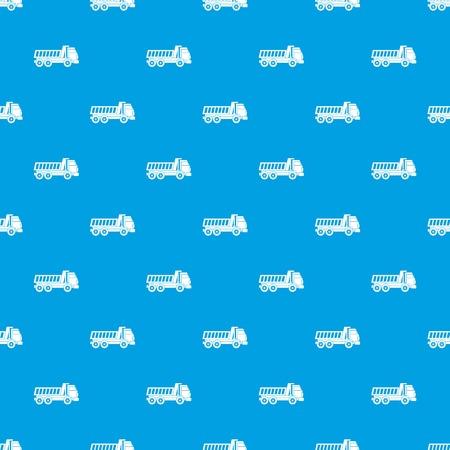 Dumper truck pattern seamless in blue color for any design. Illustration