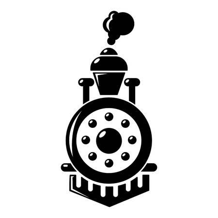 Locomotief pictogram, eenvoudige stijl