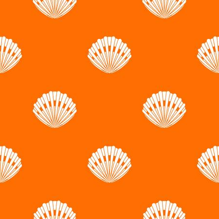 Pearl shell pattern repeat seamless in orange color for any design. Vector geometric illustration Illustration