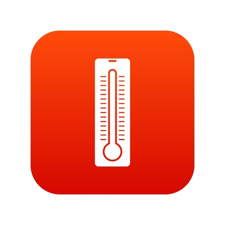 Thermometer icon digital red for any design isolated on white vector illustration