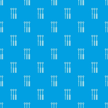 Tattoo needles pattern repeat seamless in blue color for any design. Vector geometric illustration 向量圖像