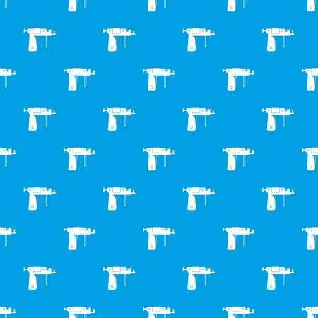 to pierce: Piercing gun pattern repeat seamless in blue color for any design. Vector geometric illustration