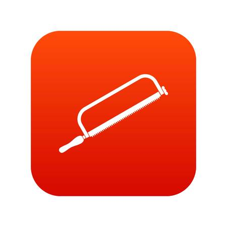 Hacksaw icon digital red for any design isolated on white vector illustration