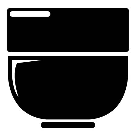 Bowl icon . Simple illustration of bowl vector icon for web design isolated on white background