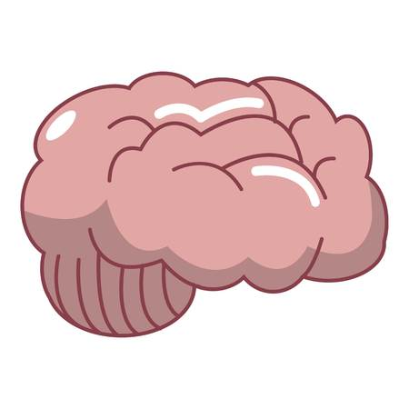 Brain icon. Cartoon illustration of brain vector icon for web design isolated on white background