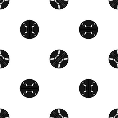 Basketball ball pattern repeat seamless in black color for any design. Vector geometric illustration 向量圖像